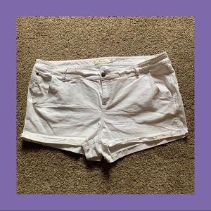 Torrid Frayed Cuff Denim Shorts